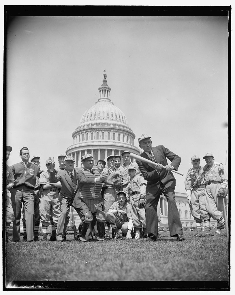 Congressional pages working in the House and the Senate each had their own baseball teams who practiced on the Capitol grounds. Congressional pages were high school-aged boys, and eventually girls, who ran messages for Congressmen. Pages played each other and against local high school teams.